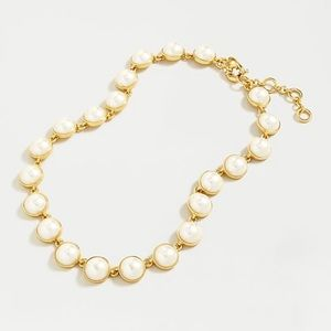 New J.Crew Gumdrop Stone Necklace, Pearl Necklace